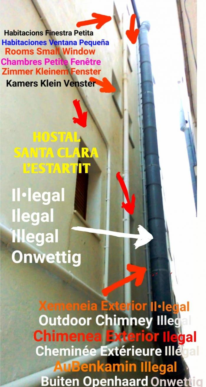 Illegal chimny hostal santa clara l estartit