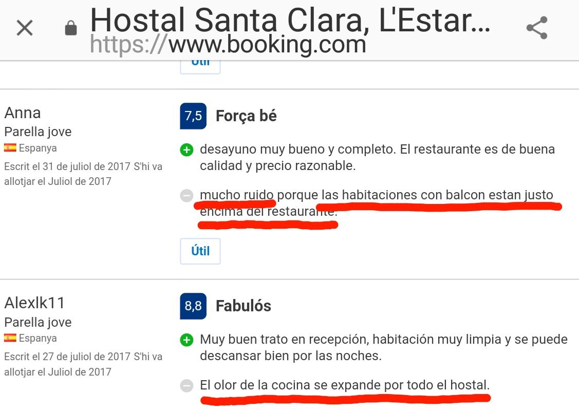 Hostal Hotel Estartit Santa Clara hoteles