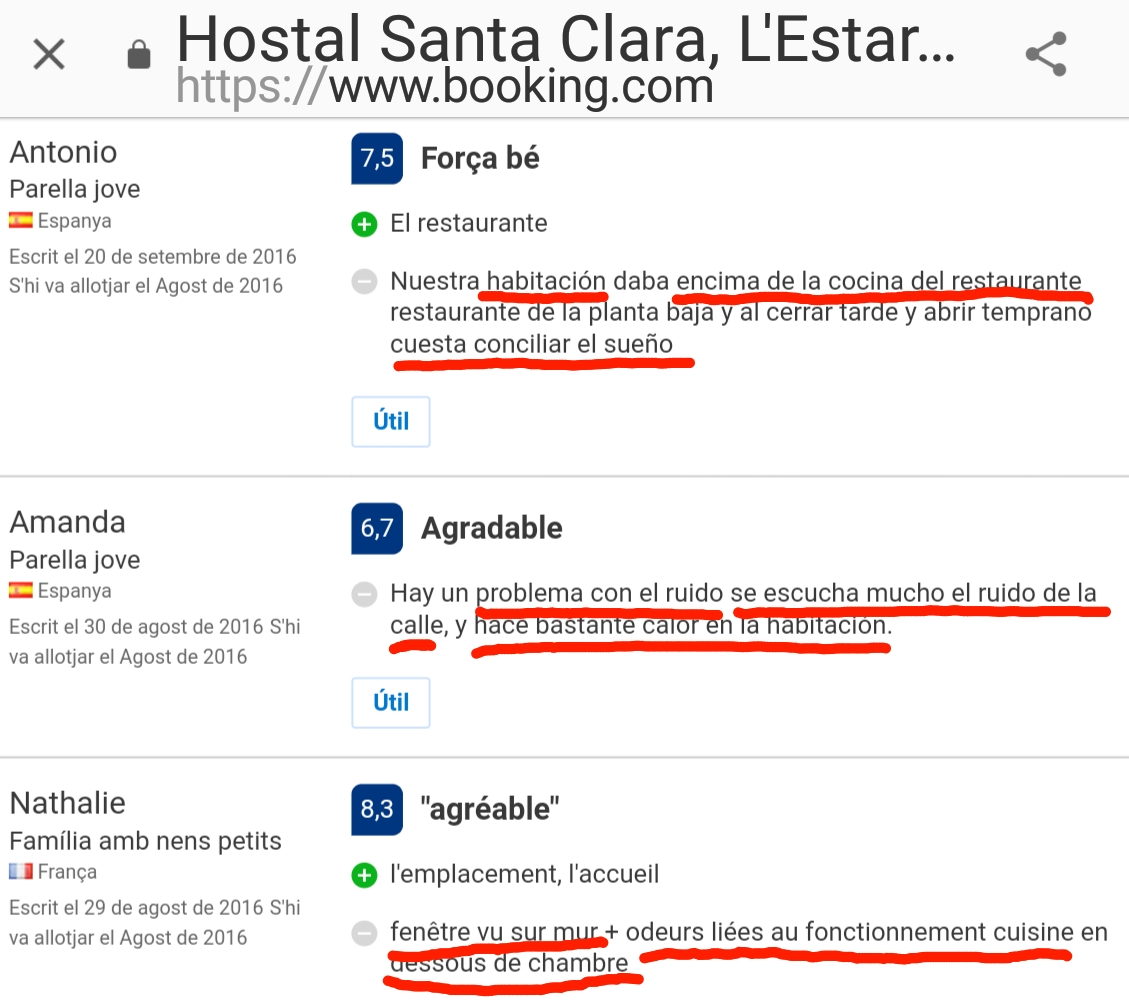 Hostal Santa Clara Estartit Booking Calor Ruido